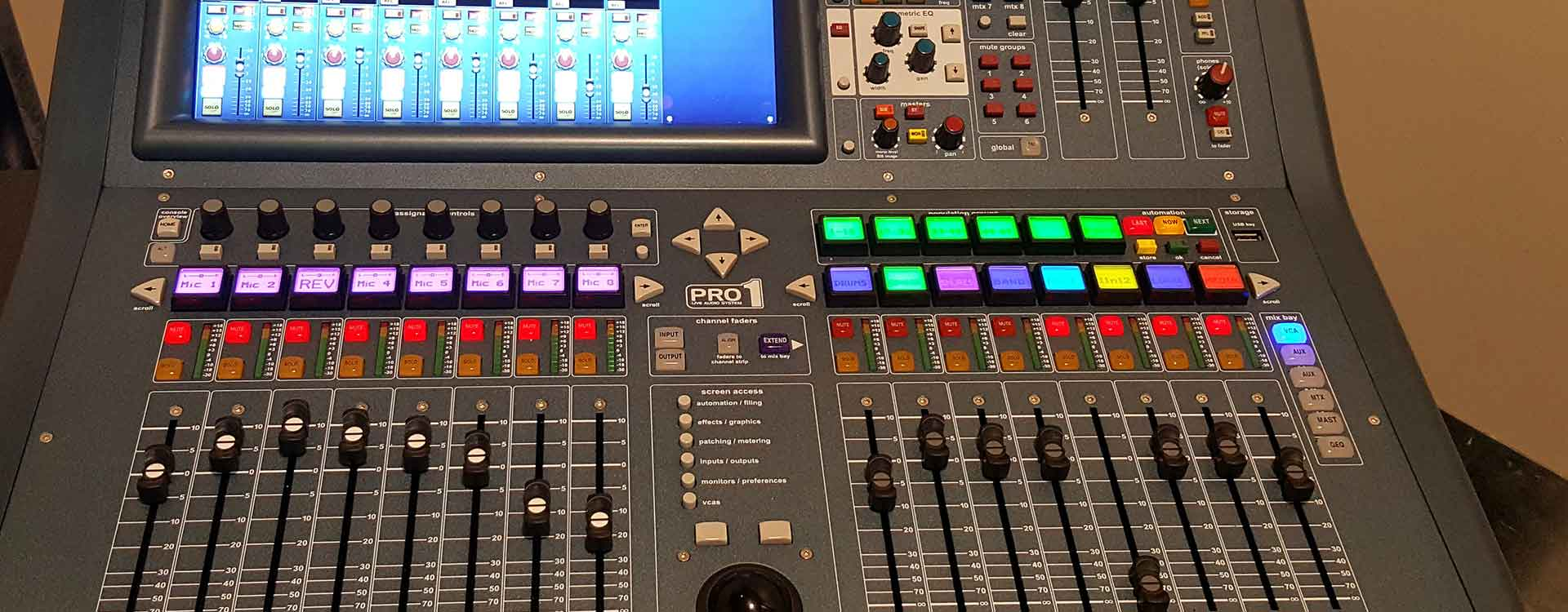 Picture of audio control board